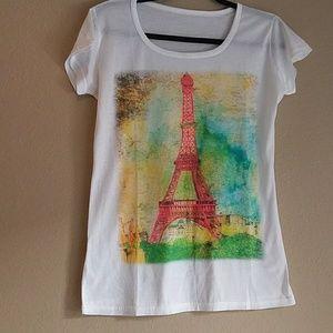 Eiffel watercolor tee